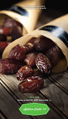 Picture of stuffed medjool dates from Sphinx Date Co. Palm & Pantry catalog