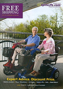 Picture of electric wheelchairs from Spin Life catalog