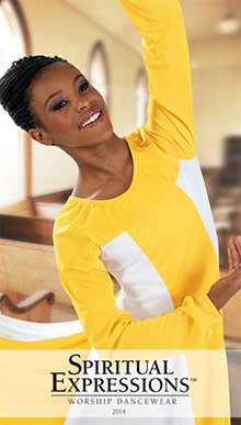 Picture of praise dance wear from SpiritualExpressions catalog