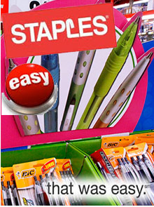 Picture of staples catalog from Staples catalog