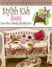 Image of baby rooms bedding from Stylish Kids Rooms catalog