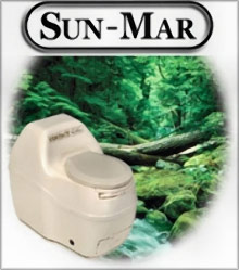 Picture of composting toilet systems from Sun Mar catalog