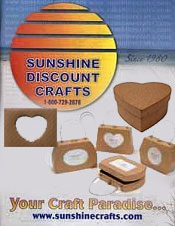Image of paper mache crafts from Sunshine Discount Crafts catalog