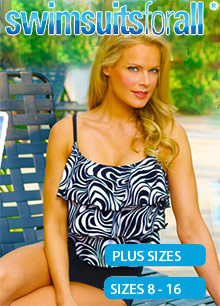 Picture of swimsuits for plus size from SwimsuitsForAll catalog