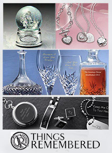 Picture of personalized gift catalog from Things Remembered catalog