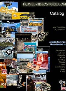 Picture of travel dvds from Travel Video catalog