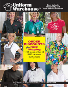 Picture of restaurant uniforms from Uniforms catalog