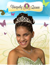 Image of tiaras for quinceaneras from Uniquely Quince catalog