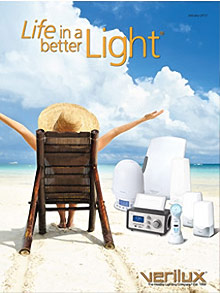 Picture of seasonal affective disorder light therapy from Verilux® catalog