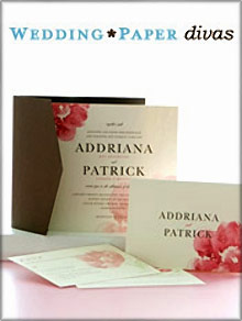 Picture of best wedding invitations from Wedding Paper catalog