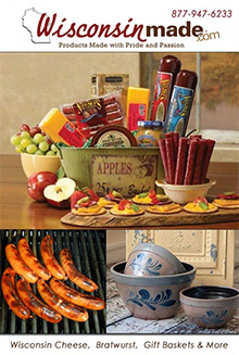 Picture of Wisconsin cheese gifts from Wisconsinmade.com catalog
