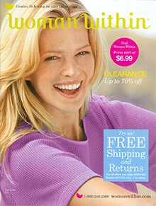 Picture of plus size women's clothing from Woman Within catalog
