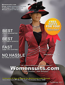 Picture of womens church suits from WomenSuits.com catalog