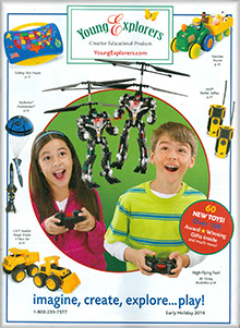 Picture of online toy stores from Young Explorers catalog