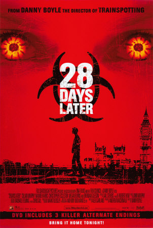 28 Days Later is in the top ten zombie movies