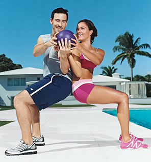 Finding a partner is one of the top ten ways to get in shape for spring sports