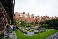 College grounds are one of the top ten most romantic reception venues