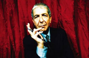 Leonard Cohen is on the list of the most famous folk music artists
