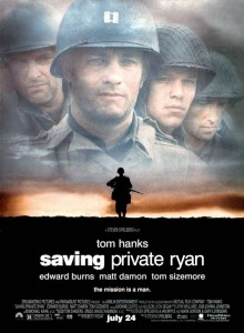 Saving Private Ryan is on the list of top ten war movies