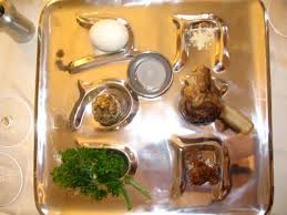 Bitter herbs are offered during seder dinner as a Passover celebration tradition