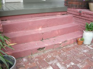 Crumbling stairs, broken walkways and corroded trim are a homebuyer's nightmare
