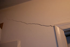 Cracked drywall and other surface blemishes may be discovered during home inspection