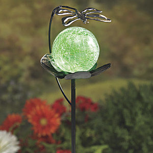 A solar garden globe is a magical garden accessory to give