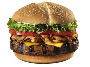 Giant burgers are on the list of fast food meals to avoid