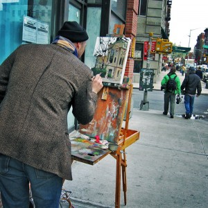 Painting is on the list of top ten hobbies for retirees
