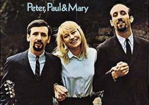 Peter, Paul and Mary are on the list of top ten famous folk music artists
