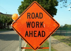 Road work is a sign of Spring