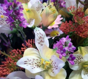 Silk flowers are an excellent stand in for spring gardening efforts