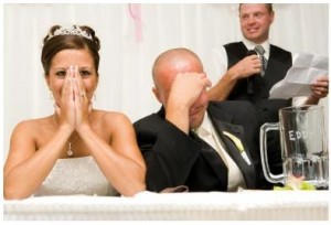 Best man speech can become a serious wedding mishap