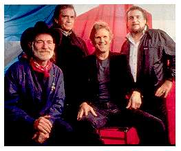 The Highwaymen are on the list of the top ten most famous folk music artists
