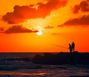 Fishing is one of the top ten ways to get in touch with nature