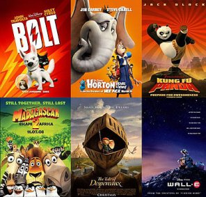 A list of the top ten animated movies