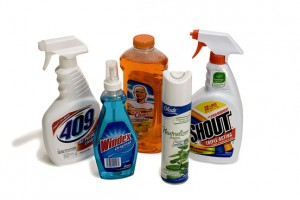 Household chemicals is one of the top ten dangers in the home