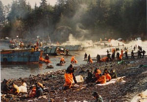 The Exxon Valdez is one of the top ten environmental disasters caused by humans