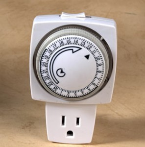 Timers are one of the top ten tips for going on vacation home safety