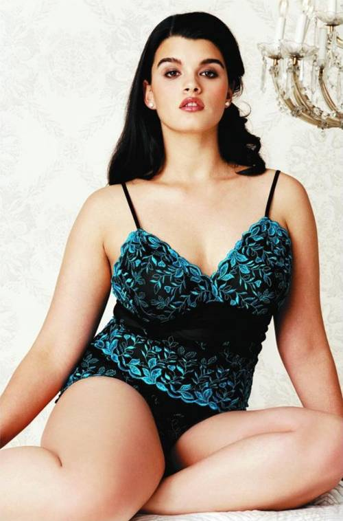 One of the top ten plus size models