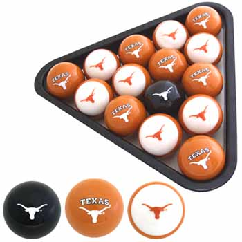 UT pool and billard ball set