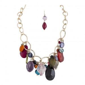 boho necklace and earrings