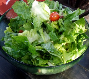 American side dishes bowl of green salad