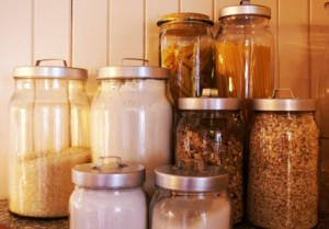basic cooking tips glass jars in pantry