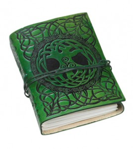 Fine leather journal with tree of life