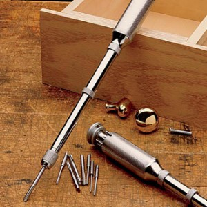 Push drill for wood drilling