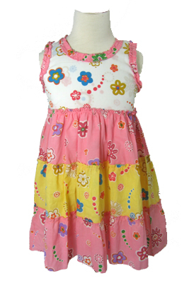 girls pink sundress from Puddles Clothing Company
