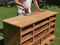 sanding furniture