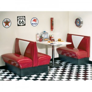 Retro Diner Booth