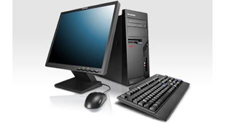 black desktop computer